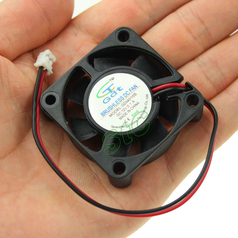 10 Pieces LOT GDT DC 12V 2P 4cm 40x40x10 40mm 4010 Small Brushless Cooling Cooler Fan