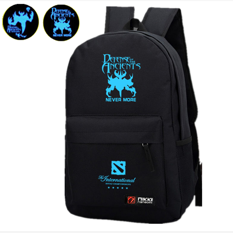 2015 Game Dota 2 Nevermore SF Blue Luminous Printing School Bags for Teenagers Jan Sport Backpack Laptop Military Backpack <br><br>Aliexpress