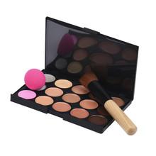 Buy Goforward 15 Colors Makeup Concealer Contour Palette + Water Sponge Puff + powder Makeup Brush Liquid Foundation Make Brush for $3.78 in AliExpress store