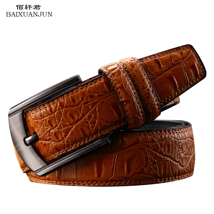 2016 new men's casual leather belt wild belt leather belt men's brand of high-quality embossing belt(China (Mainland))