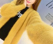 Подлинная норковая кашемировая Толстая теплая куртка настоящий натуральный настоящий свитер кашемир с норкой Роскошная Фабрика оптовая п...(China)