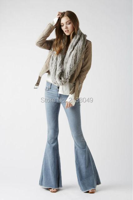 FS00702 150*20 см Дизайна Моды Кольцо Шарф Реального Меха Кролика Вязаные Галстуки
