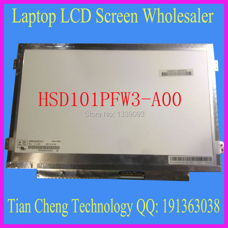 Free shipping 10.1 Laptop LCD Screen 1024x600 HSD101PFW4 HSD101PFW3 B101AW06 for ASUS Eee PC 1008HA 1008P 1018 netbook(China (Mainland))