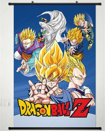dragonball z dragon ball dbz home decor anime affiche japonaise wall scroll art a2 dans peinture. Black Bedroom Furniture Sets. Home Design Ideas