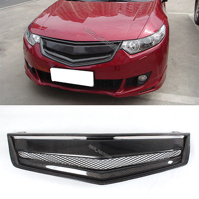 Carbon Fiber Front Honeycomb Grill Grille Fit For Hon da Accord Acura TSX 09-10(China (Mainland))