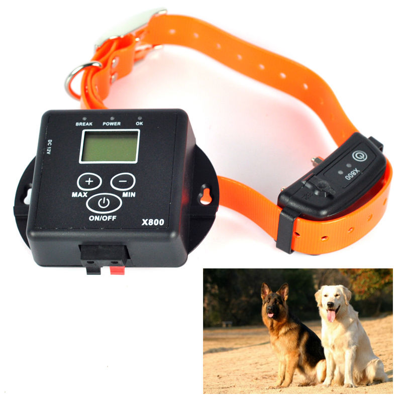 In-Ground Electronic Wireless Remote Pet Dog Fence Containment System Rechargeable and Waterproof Collar(China (Mainland))