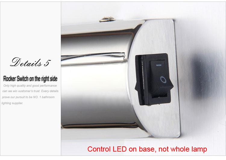7w Smd Led Wall Sconce Retractable Lamp Makeup Mirror: ���Hot Popular Rockable ΠBathroom Bathroom Mirror Light
