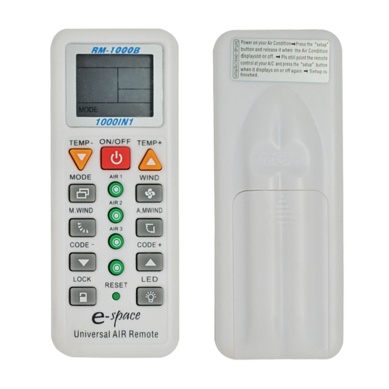 Universal 1000 in 1 Remote Control LCD A/C Wireless Multifunction Remote Control for Air Condition(China (Mainland))