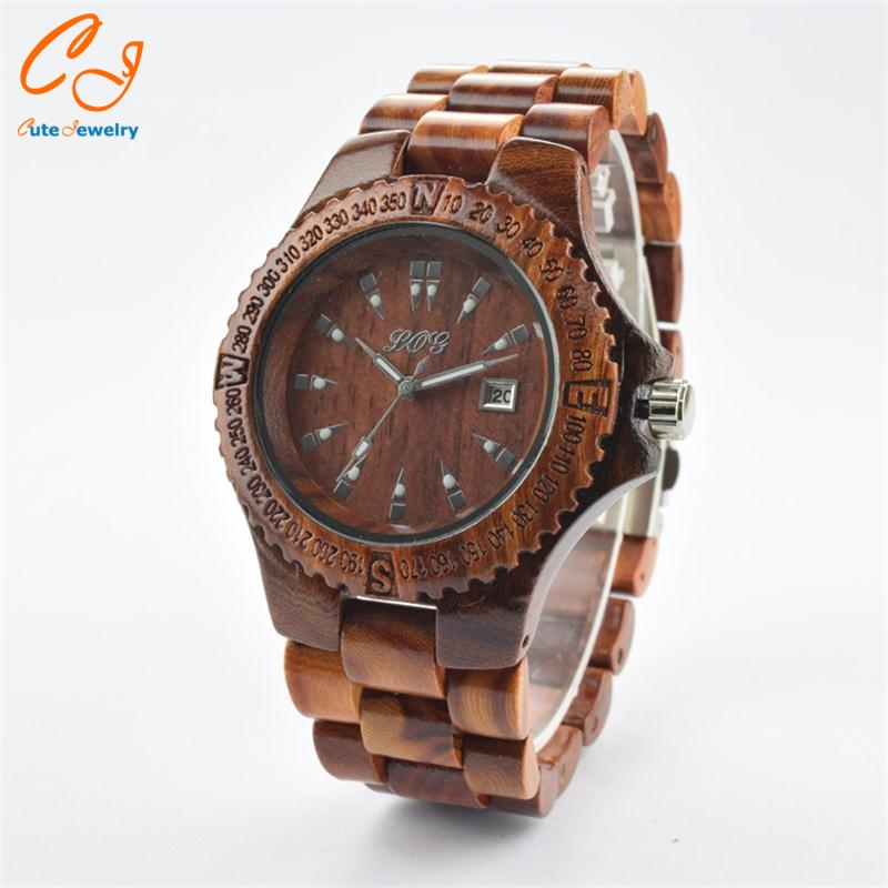 Popular retro wooden table Bamboo production wholesale manufacturers Sandalwood suit men and women watch от Aliexpress INT