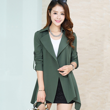 2015 new spring OL style big yards ladies windbreaker female coat spring and autumn sun protection clothing