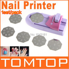 2017 Nail Art Printing Machine DIY Color Printing Machine Polish Stamp 6 Pcs Pattern Template Kit Set Digital Nail Printer(China (Mainland))