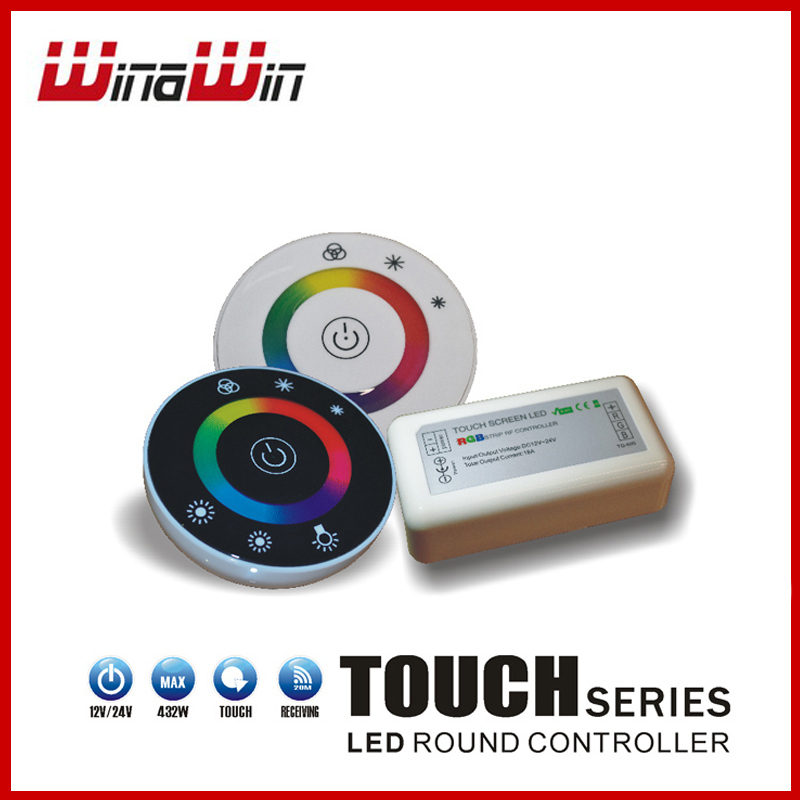 Led Touch RGB controller 18A Wireless LED Controller RF Touch Panel LED Dimmer RGB Remote Controller(China (Mainland))