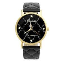 Hot Marketing 2015 New Fashion Women Casual Geneva Roman Leather Band Analog Quartz Wrist Watch Jun7 Hcandice