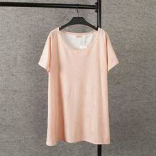 Summer Casual Women Long T-shirt Plus Size Woman Clothes Short Sleeve cotton Tops Fashion Invisible pentagram Ripped Tees 2080(China (Mainland))