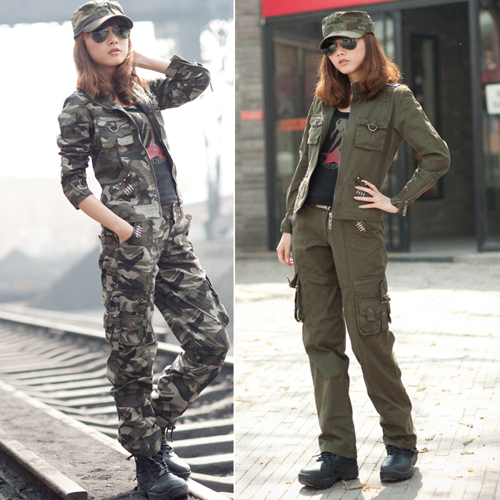 Unique Street Style Military Pants And Army Trousers For Women 12