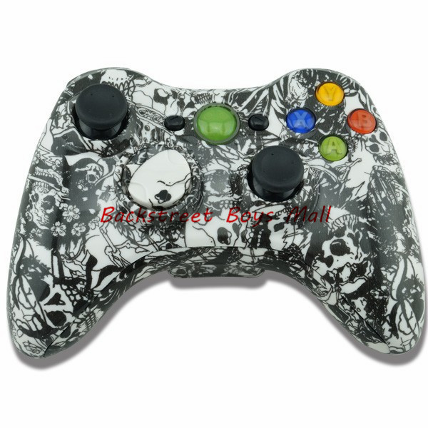 Custom Black Skull Hydro Dipped  Case Cover for XBOX 360  Replacement Shell for Xbox360 + tools xb3079<br><br>Aliexpress