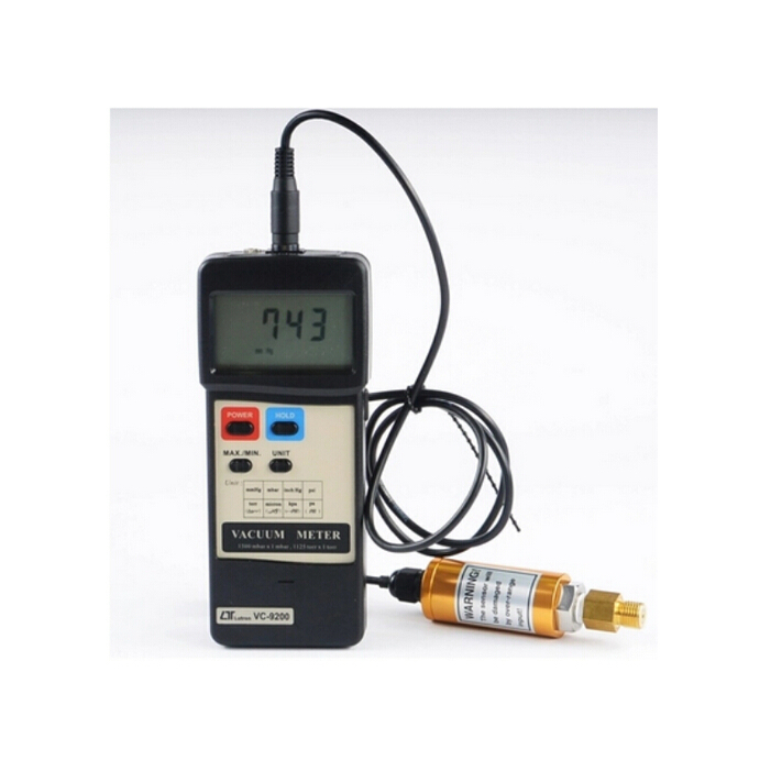 VC-9200 1-1500 mbar, 8 kinds units , RS232 PC Interface Vacuum Pressure Meter VC9200(WYX)(China (Mainland))