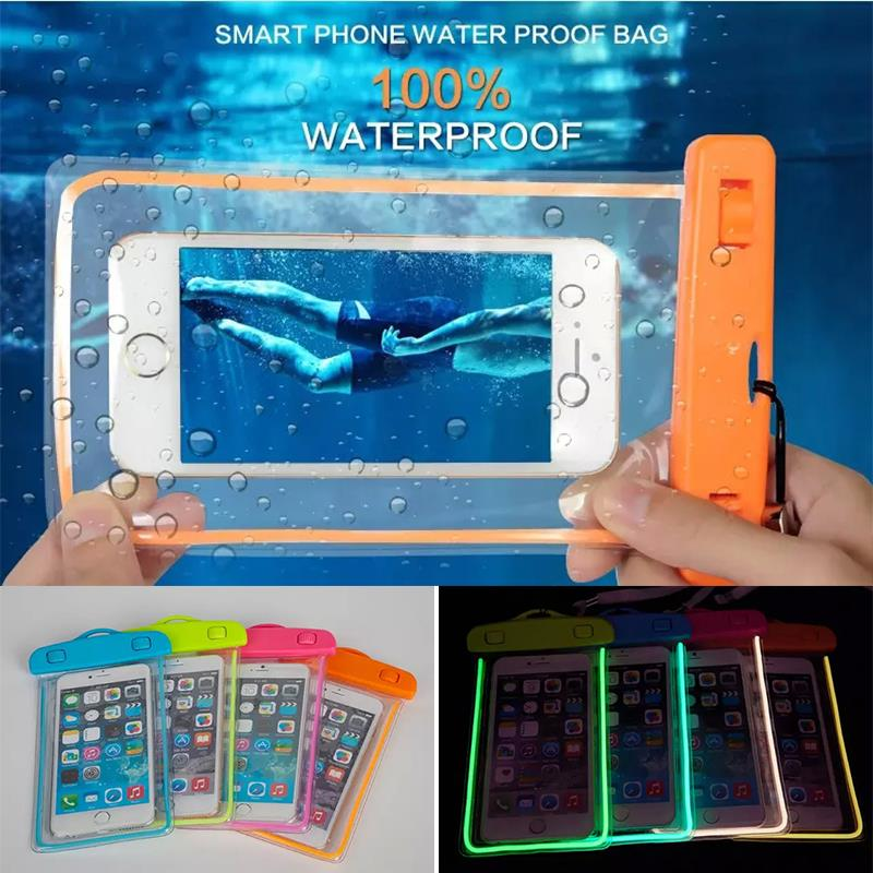 Waterproof Bag Luminous night Underwater Case for Samsung Galaxy S3 S4 S5 S6 S7 S6 edge plus J3 J5 J7 note 2 3 4 5 A3 A5 A7 2016(China (Mainland))