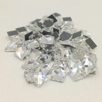 Big Sale Square 4X4mm 200pcs/Lot Crystal Clear HotFix FlatBack Rhinestones glass strass,Fancy Shape DMC Square Hot Fix Stones