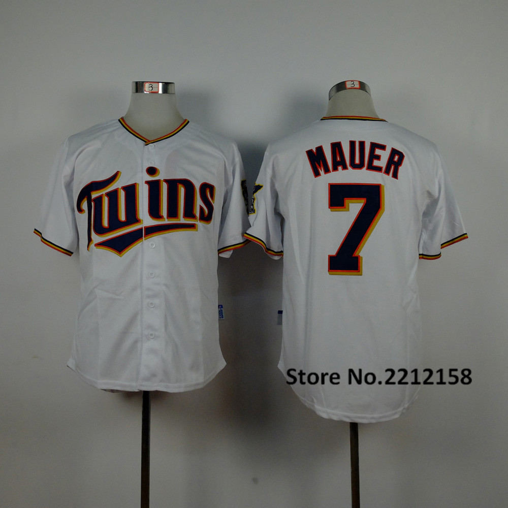 2016 new Mens Twins Jerseys #7 Joe Mauer #22 Miguel Sano #25 Byron Buxton #52 Byung Ho Park Throwback Baseball Jersey(China (Mainland))