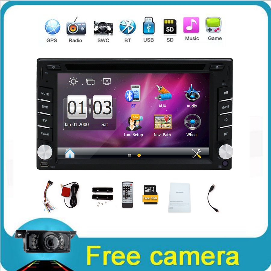 In Dash Double Din 6.2 Inch 2 Din Car DVD Player GPS Navigation Car Stereo Car Radio In Dash Car PC Head Unit Video Music Player(China (Mainland))