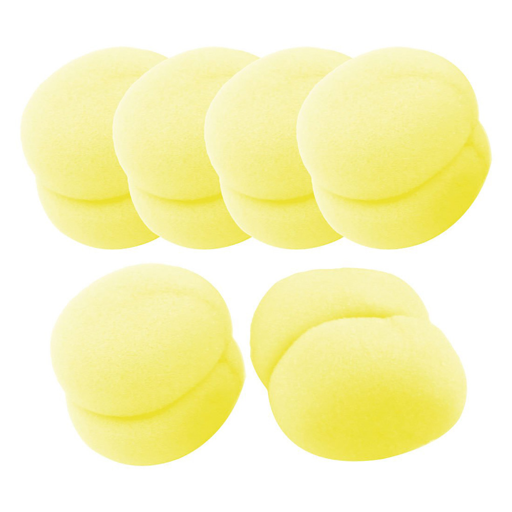 Sweet Center 6Pcs Yellow Soft Sponge Ball Hair Styler Hair Care Curler Roller Tool for Lady(China (Mainland))