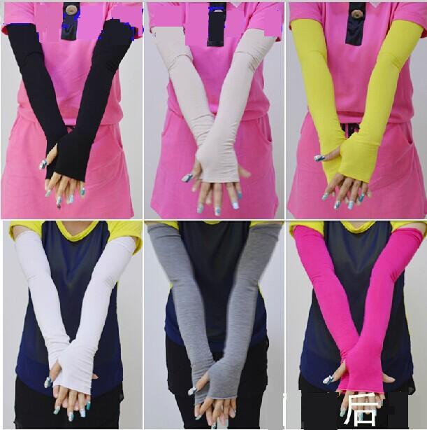 Summer sunscreen gloves modal cotton long design anti-uv all-match women's oversleeves arm sleeve - Full-Join Technology CO.,LTD store