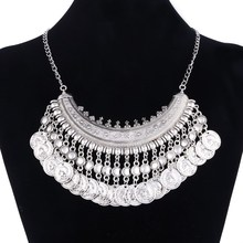 Buy 2017 Bohemian Statement Coin Necklaces & Pendants Women Collier Femme Bijoux Jewelry Vintage Maxi Necklace Colar Choker for $2.58 in AliExpress store