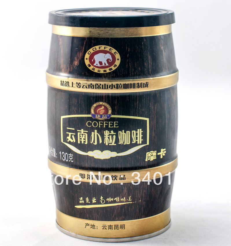 Small grain coffee canned instant coffee three in 130g mocha coffee