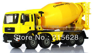 High quality 1:50 mini diecasts alloy transport mixer wheel engineering car vehicle model toy truck+retail package