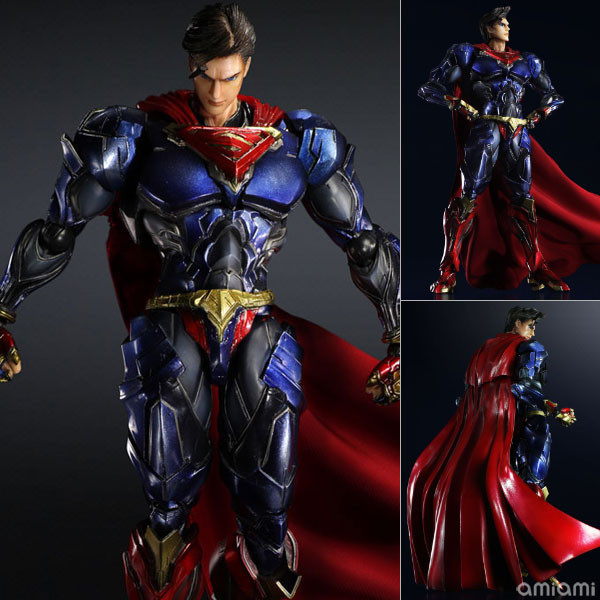 Superman Action Figure Play Arts Kai Movable Justice League PVC Toys 270mm font b Anime b