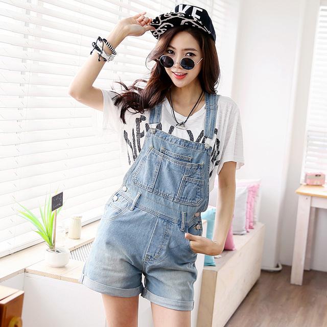 2015 новый женский лето комбинезон джинсы джинсовые шорты джинсовые комбинезоны комбинезон ...