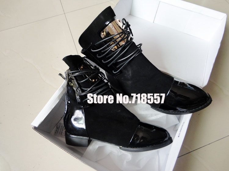 Hot Sale Women Genuine Leather Flat Ankle Boots Vintage Suede Fur