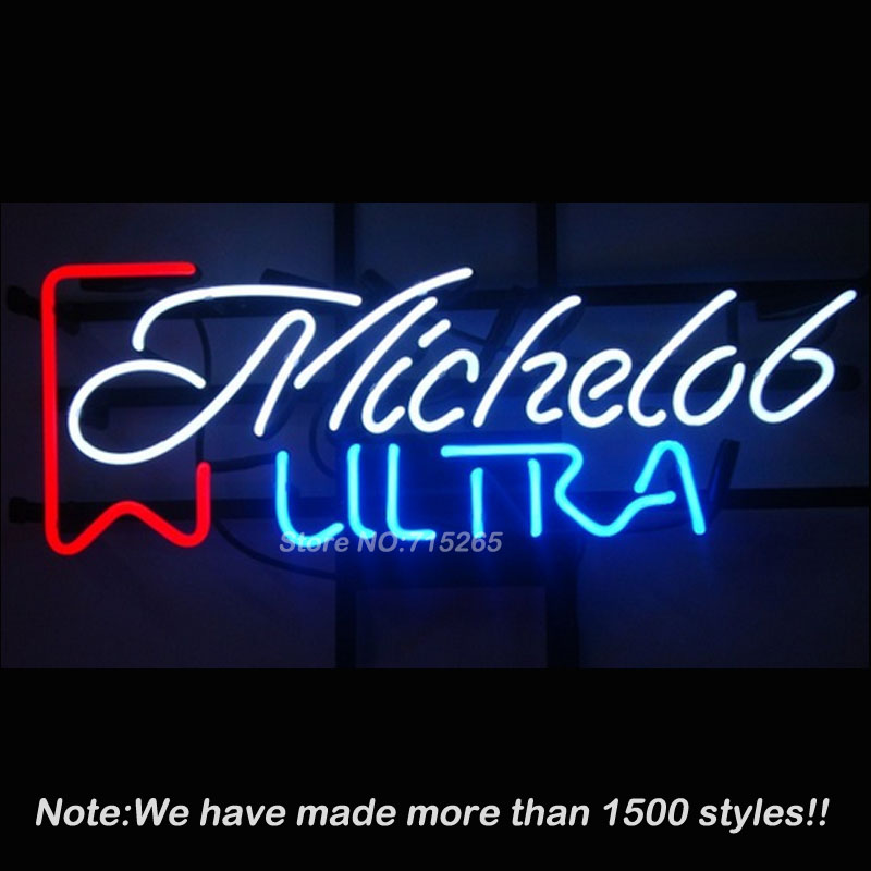 Sweet Vintage Michelob Ultra Neon Sign BEEP Neon Bulbs Store Display Real Glass Tube Custom Design Handcrafted 19x13(China (Mainland))