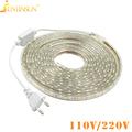 220V 110V LED Strip Light SMD 5050 Waterproof LED Strip Flexible Light 60LED M With Power