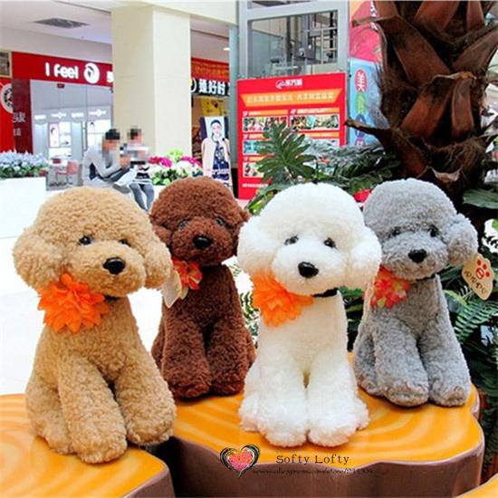 Free shipping 1PC Retail Life like Teddy Poodle Dogs Bichon Frise Plush Toy stuffed warm soft animals kids birth christmas gifts(China (Mainland))