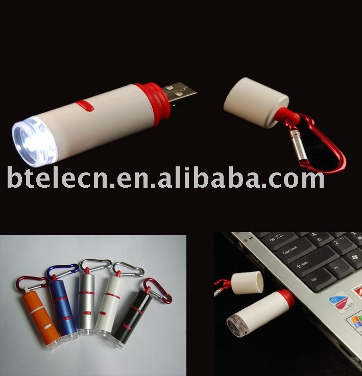USB led flashlight small torch projector gift hand torch(China (Mainland))