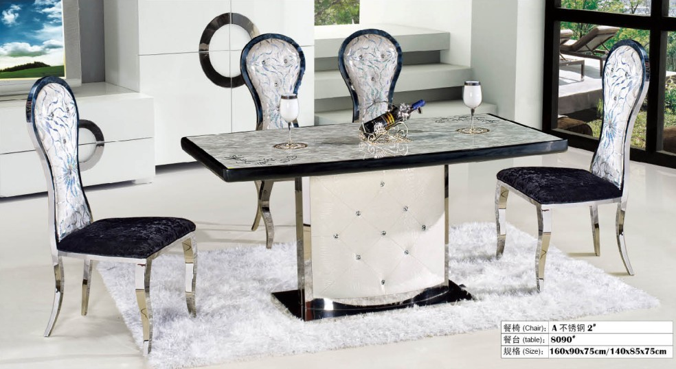 Fashion Dining Room Natural Marble Dinning Table In Dining Tables From