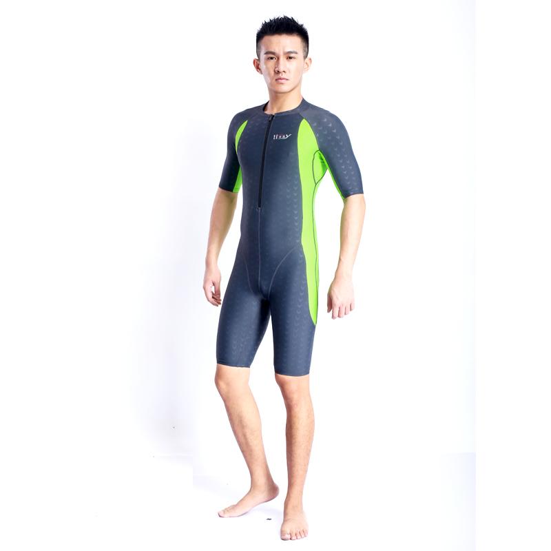 Quick dry women's training swimwear one piece swimming suit knee length women's racing swimwear one piece waterproof swimsuit