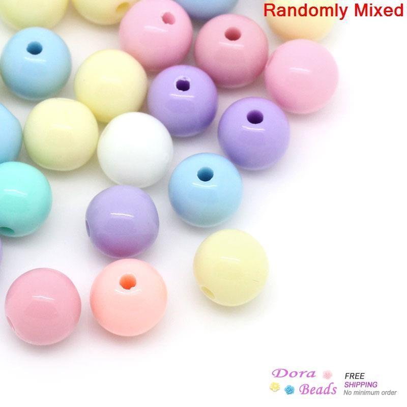 Гаджет  Acrylic Spacer Beads Round Mixed 6mm Dia,Hole:Approx 1.5mm,500PCs (B28558) None Ювелирные изделия и часы