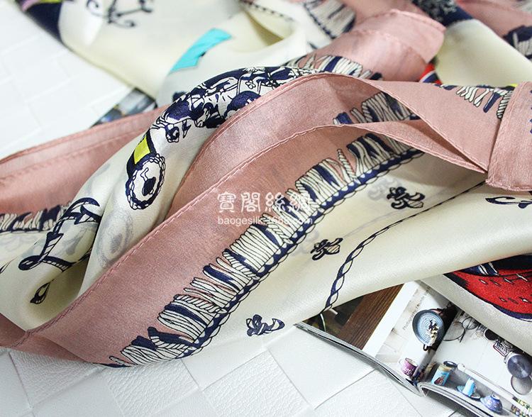 100%Real Silk Tassel Printed Women Winter Scarves Luxury Brand Warm Echarpe 180x65cm Satin Foulard Bandana High Qulity Hijab S7