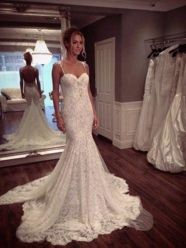 Sexy Backless Vintage Lace Wedding Dresses Mermaid 2015 Sweetheart Neckline New Fashionable Bridal Gowns Vestidos De Novia Longo(China (Mainland))