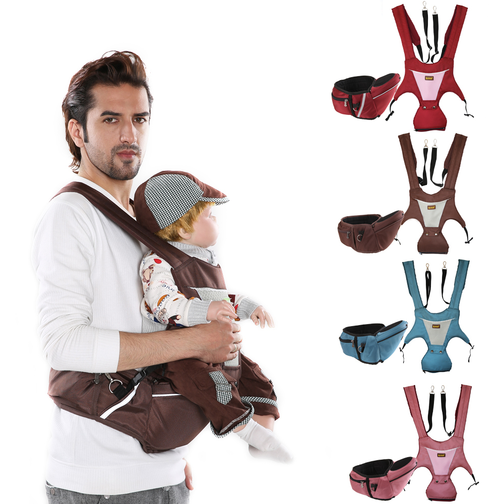 Гаджет  High quality double-shoulder Hip Seat Harness Baby Carrier & Mom