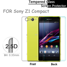 Premium Front & Back 0.33mm Tempered Glass Screen Protector for Sony Xperia Z1 Compact Z1 mini Protective Film