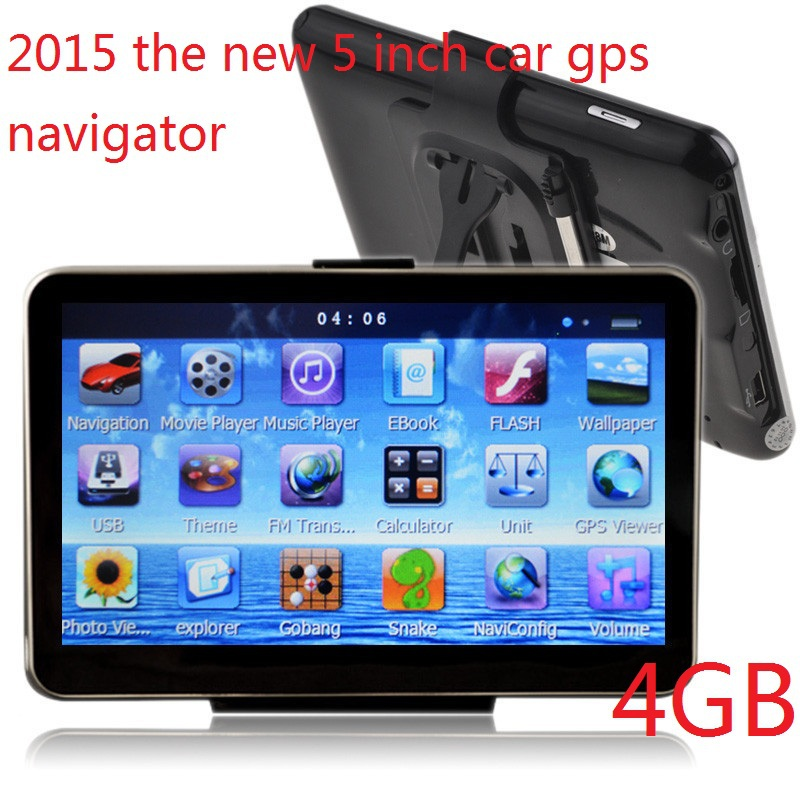 The new 5 inch Car GPS Navigator FM/4GB/DDR128M best gps for Navitel Russia/Belarus/europe/South american map Israel ce6.0(China (Mainland))