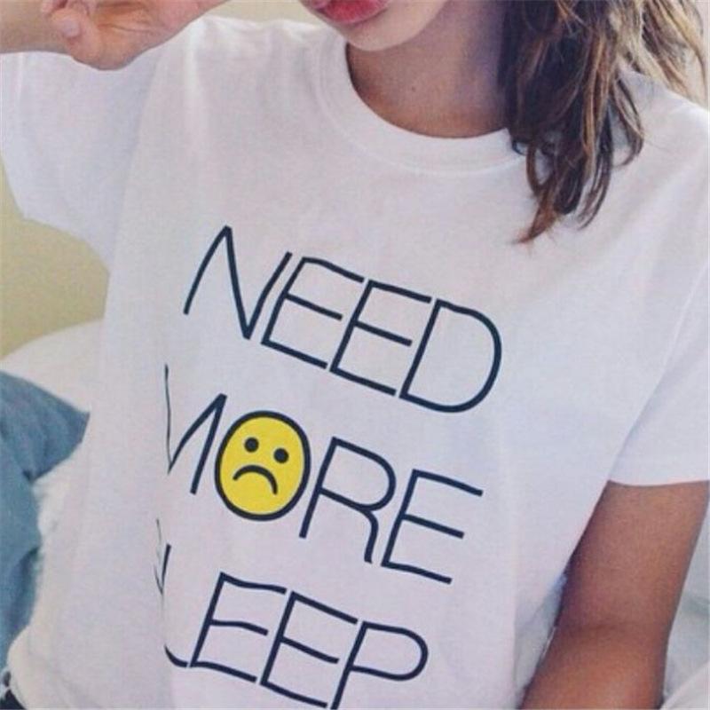 Funny T Shirts 2016 Need More Sleep Printed Fashion