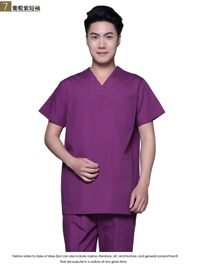 High-quality Medical Nursing Nightingale Scrubs Men Set Top & Pants Nurse Uniform Scrub Pants blue(China (Mainland))