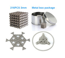 216PCS 3mm neodymium Magnetic Balls Neo nickel Magic Cube Spheres beads magnets Puzzle Neo Cube magic DIY Kids educational toys(China (Mainland))