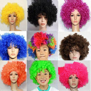 Brand New Bobo Short Curly Wig Costume Colorful Circus Clown Synthetic Wigs Men Women - Fashion Store NO.1 store
