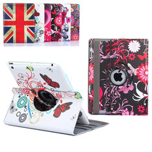 Buy Floral Tablet Cases ipad 3 2 360 Rotating Flower Butterfly Flip Stand PU Leather Case Cover Apple ipad 2 3 ipad 4 9.7 for $13.80 in AliExpress store